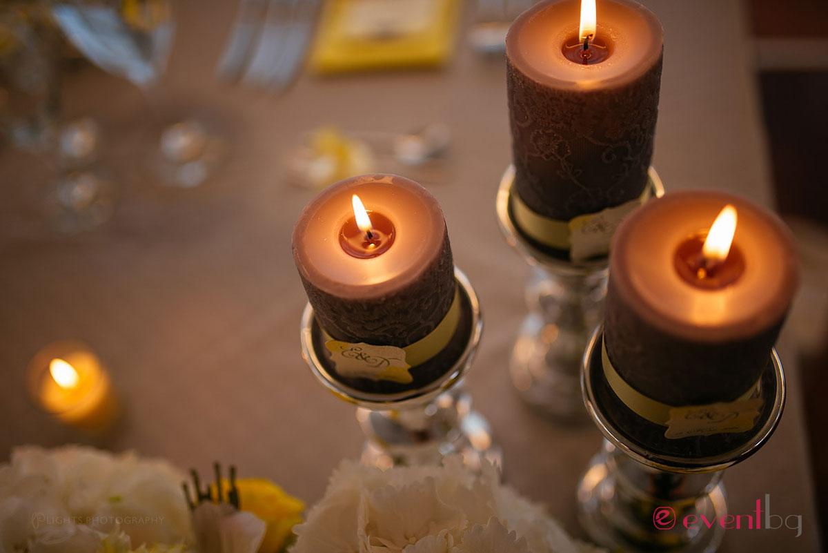 Сватбена украса - свещници