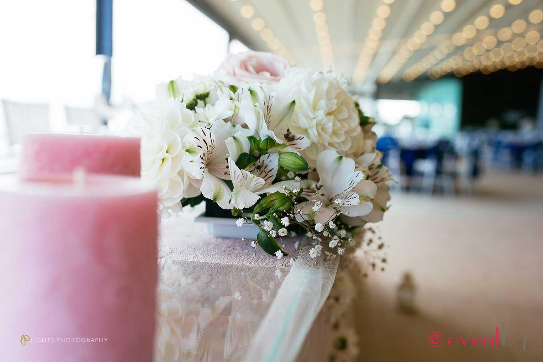 Украса с цветя на Булчинска маса