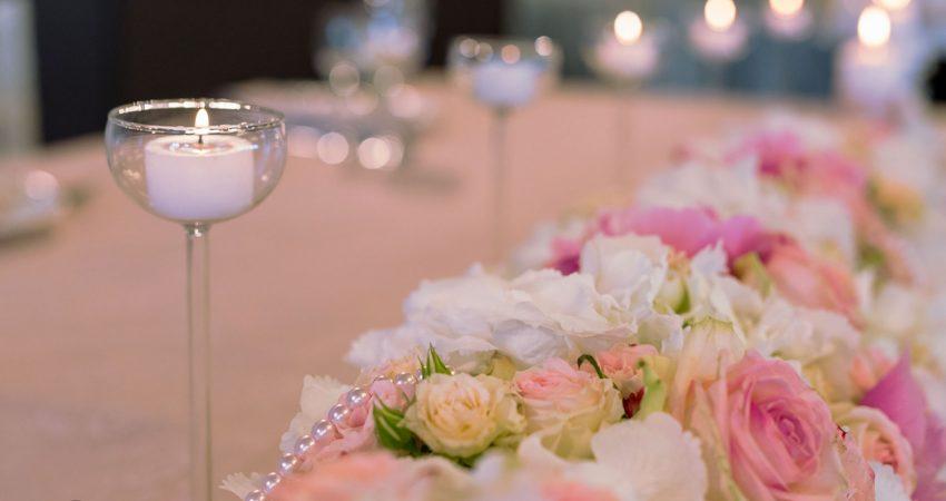 Булчинска маса живи цветя