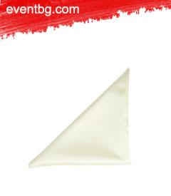 Платняна салфетка от лен - бяла