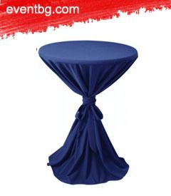 Покривка за коктейлна маса под наем - Лукс/Тъмно син
