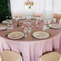 Сватбена украса в блъш и розово.