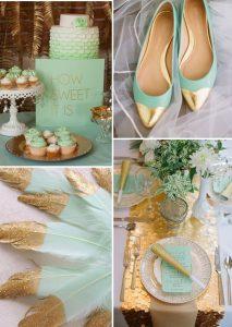 Комбинации с цвят мента за пролетни и летни сватби през 2017г.