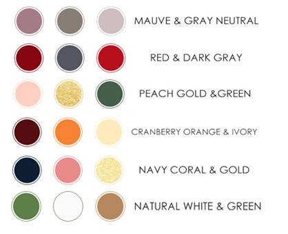 Модерни цветове за сватба 2017г